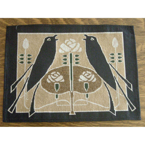 "<p>Beautiful woven 17"" x 12.5"" place mat in the 'Songbirds' design by Talwin Morris. </p>"