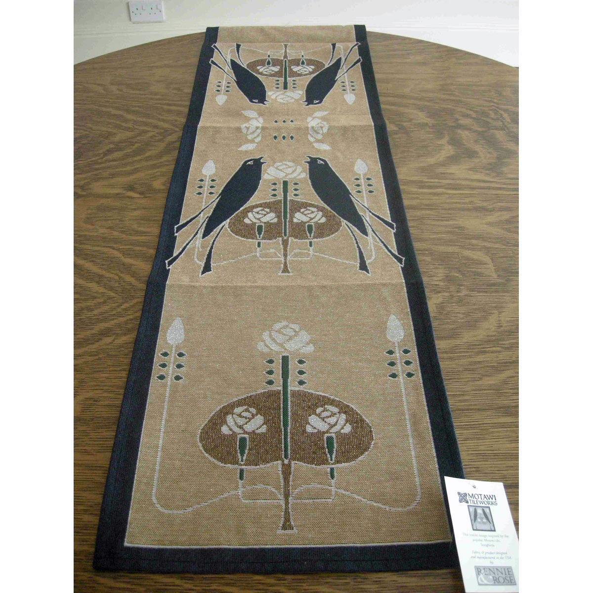 <p>Lovely woven table runner in the 'Songbirds' design by Talwin Morris.</p>