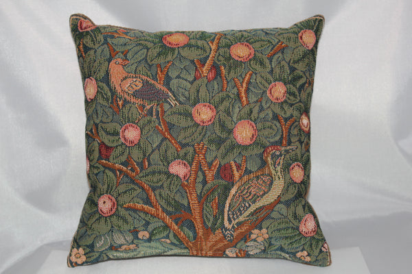 William Morris Woodpecker Tapestry Cushion