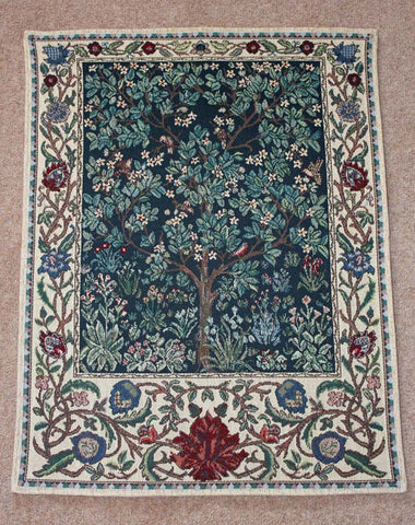 <p>Fine quality cotton jacquard loom woven tapestry of the famous Tree of Life design by William Morris.</p>