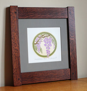 <p>Beautiful original  signed  limited-edition proof print of a Wisteria in an Arts and Crafts era inspired design.</p>