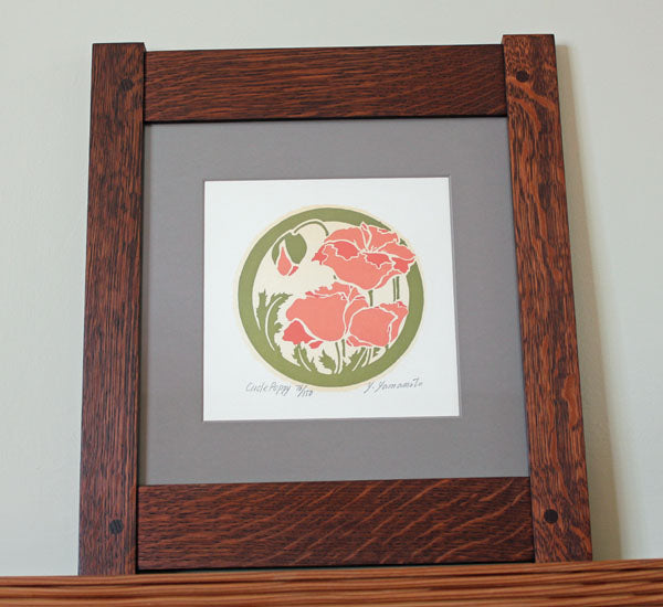 <p>Beautiful original  signed  limited-edition proof print of a Poppy in an Arts and Crafts era inspired design.</p>