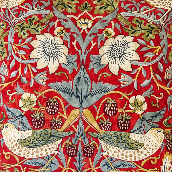 <p>Pair of lined curtains in William Morris Strawberry Thief Slate design.</p>