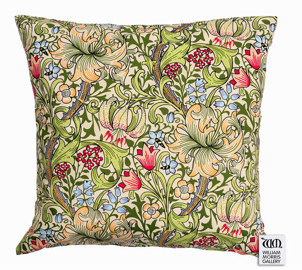 <p>Cotton cushion cover in an archive print of Willow Boughs from the William Morris Gallery.</p>