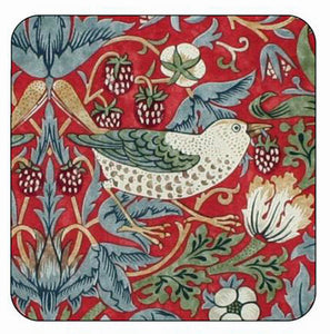 <p>Quality coasters by Pimpernel in Morris & Co Strawberry Thief Red design.</p>