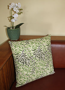 <p>Cotton filled cushion in a reissued archive print of Willow Boughs from The William Morris Gallery.</p>