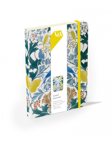 <p>Handy hard cover lined journal with front and back cover in a design by CFA Voysey.</p>