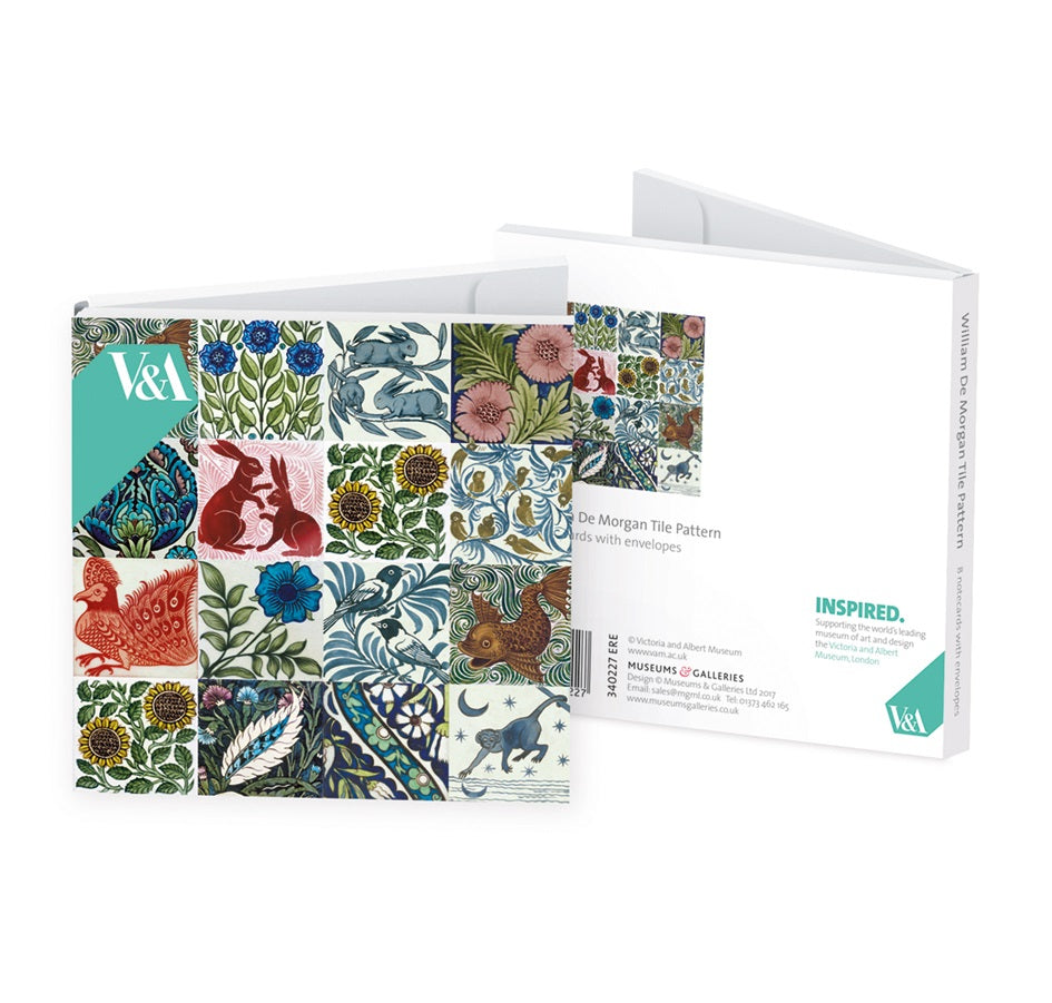 William De Morgan Tile Designs Note Cards