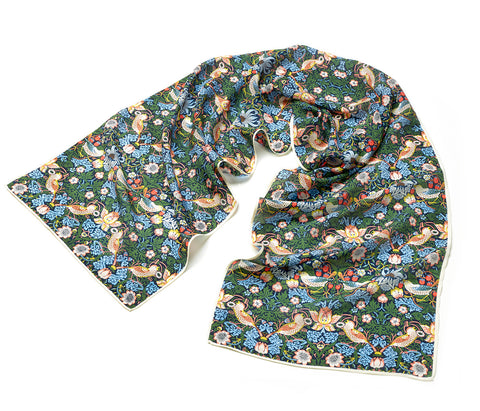 William Morris Strawberry Thief Silk Scarf