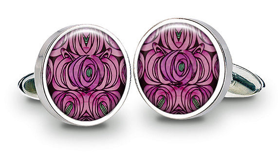 Charles Rennie Mackintosh Rose & Teardrop Cuff Links