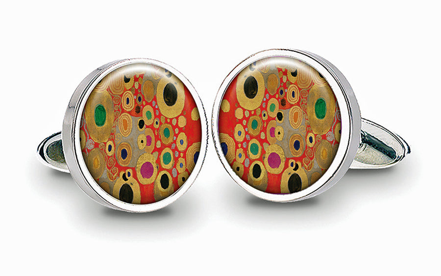 Gustav Klimt Red Cuff Links
