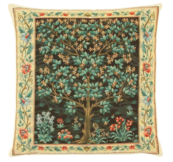 William Morris Tree of Life Blue Cushion