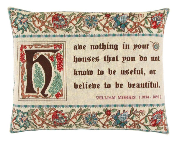William Morris Quote Tapestry Cushion