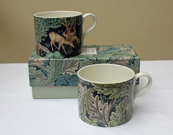 Spode William Morris The Brook and Acanthus Mugs, Set of 2 in a Gift Box