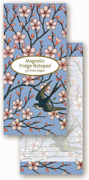 Almond Blossom and Swallow Magnetic Notepad