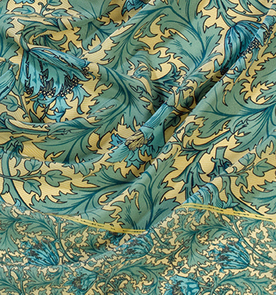 William Morris Anemone Silk Scarf
