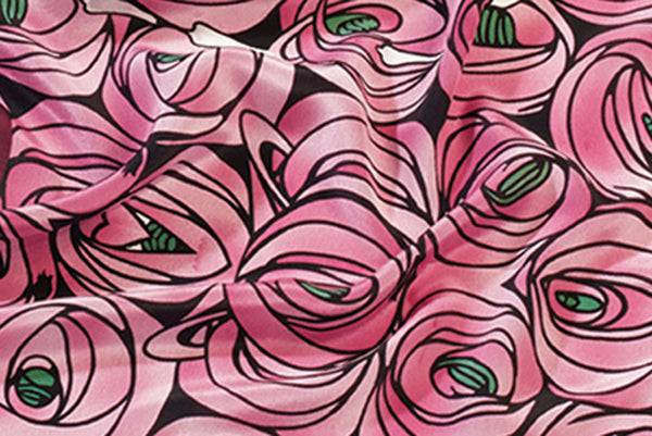 Charles Rennie Mackintosh Rose & Teardrop Silk Scarf