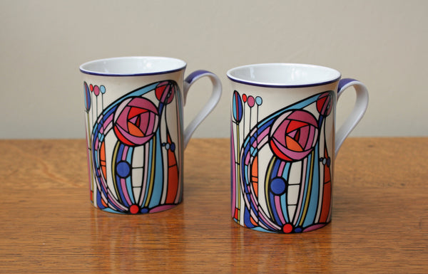 2 Charles Rennie Mackintosh Fine China Mugs