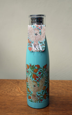 V & A Walter Crane Cockatoo Stainless Steel Water Bottle