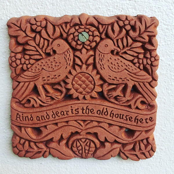 William Morris Dear House Decorative Terracotta Wall Tile