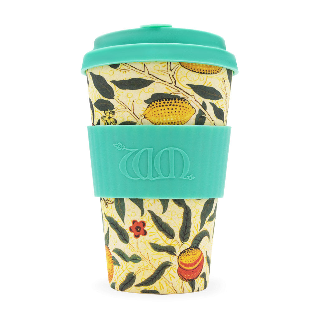 <p>Useful and beautiful, reusable, biodegradable Ecoffee Cup in the Pomme (Fruit) design by William Morris. </p>