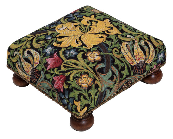 William Morris Golden Lily Tapestry Footstool