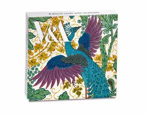 Fig and Peacock Walter Crane Note Cards
