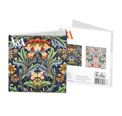 V & A Floral Arts and Crafts Note Cards