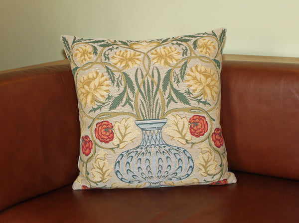 William Morris Flowerpot Tapestry Cushion