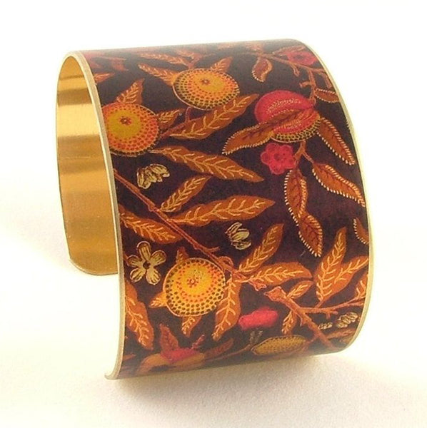 William Morris Fruit Pomegranate Brass Cuff Bracelet