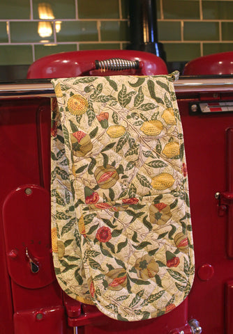 William Morris Gallery Fruits Double Oven Glove