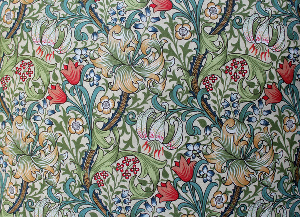 William Morris Golden Lily Piped Edge Cushion Cover