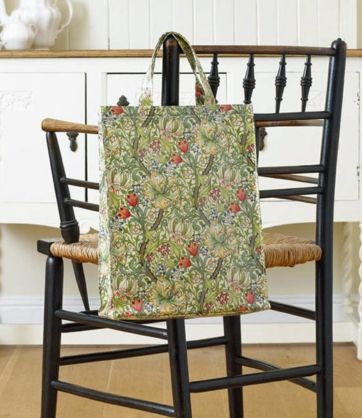 William Morris Golden Lily PVC Bags - sm, med and large