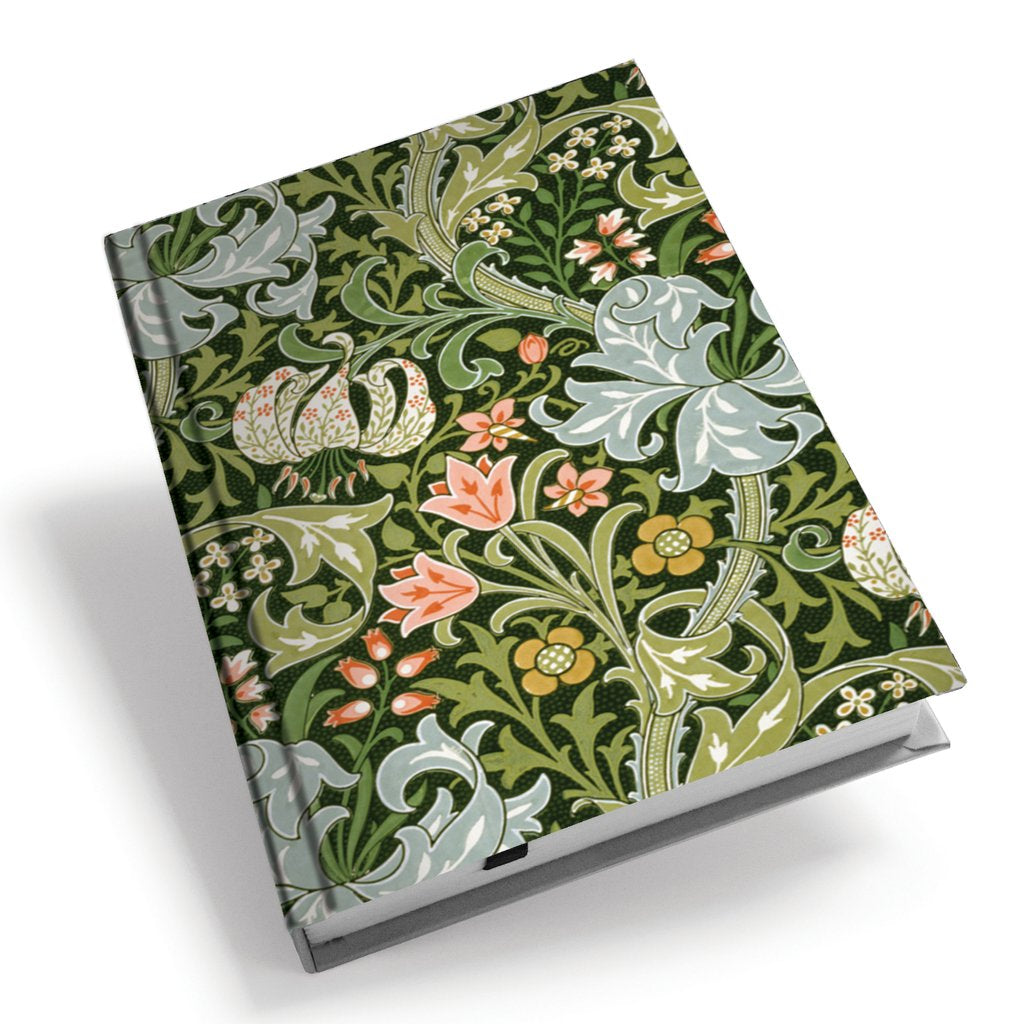 <p>A5 hardback notebook with the Golden Lily design by John Henry Dearle on the cover.</p>