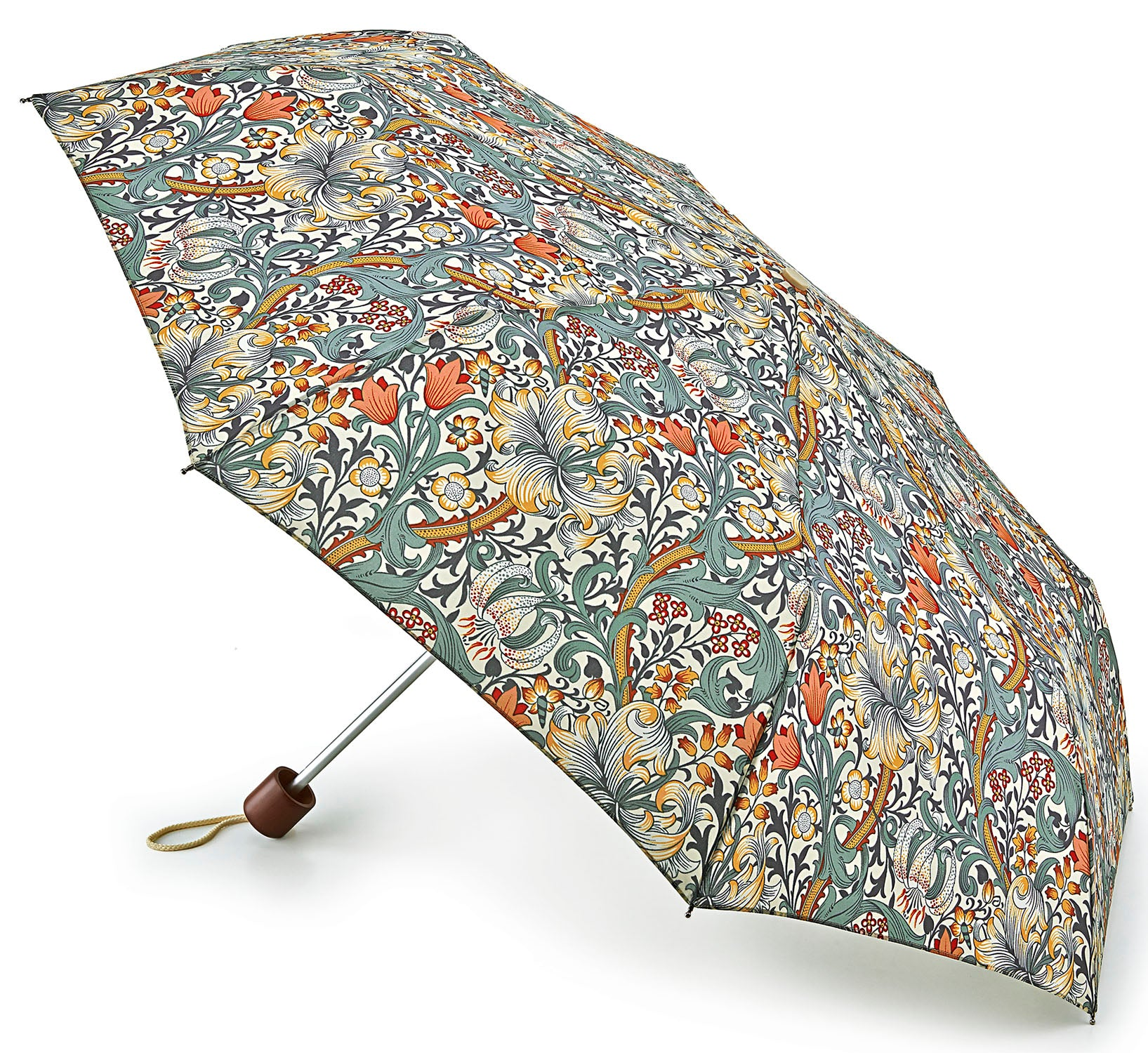 Morris & Co Fulton Minilite Golden Lily Folding Umbrella