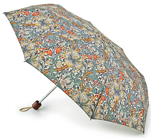 Morris & Co Minilite Golden Lily Folding Umbrella