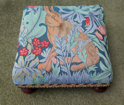 William Morris The Hare Tapestry Footstool