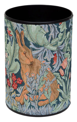 <p>High quality waste bin covered in tapestry fabric of William Morris's The Hare design.</p>