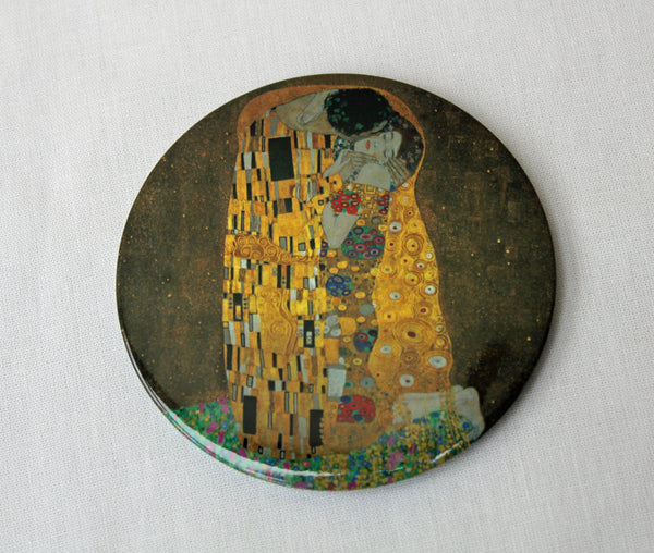 Gustav Klimt The Kiss Pocket Mirror