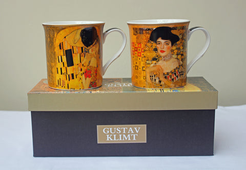 Set of 2 Gustav Klimt China Mugs