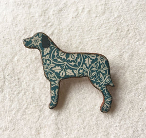 Stockwell Ceramics William Morris Dog Brooch