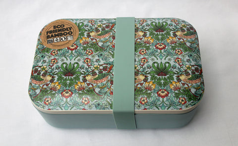 William Morris Strawberry Thief Bamboo Lunch Box