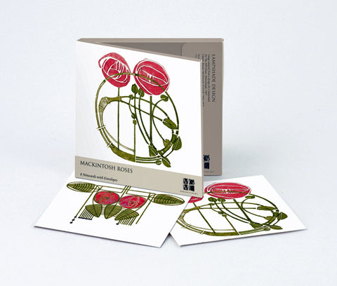 Mackintosh Roses Note Cards
