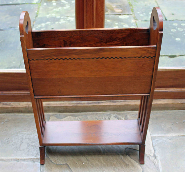 Antique Arts & Crafts Oak Magazine Stand