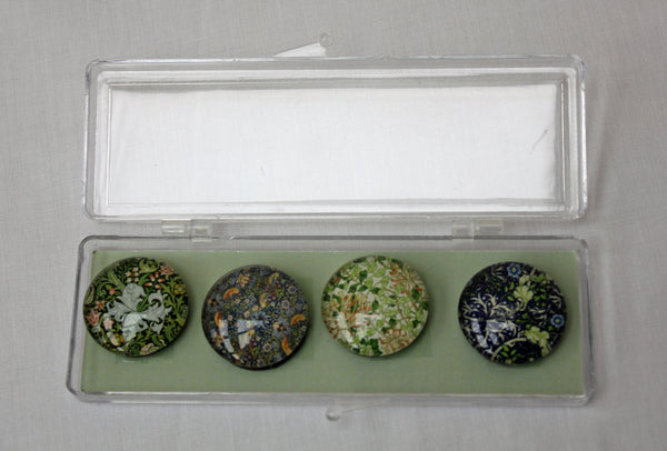 William Morris Crystal Magnets Set of 4