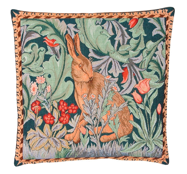 William Morris The Hare - Right - Tapestry Cushion