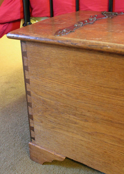 Antique Arts & Crafts Cotswold School Oak Coffer