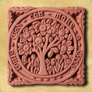 William Morris Orange Tree Decorative Terracotta Wall Tile