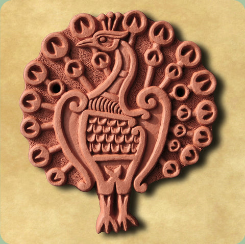 Peacock Decorative Terracotta Wall Tile