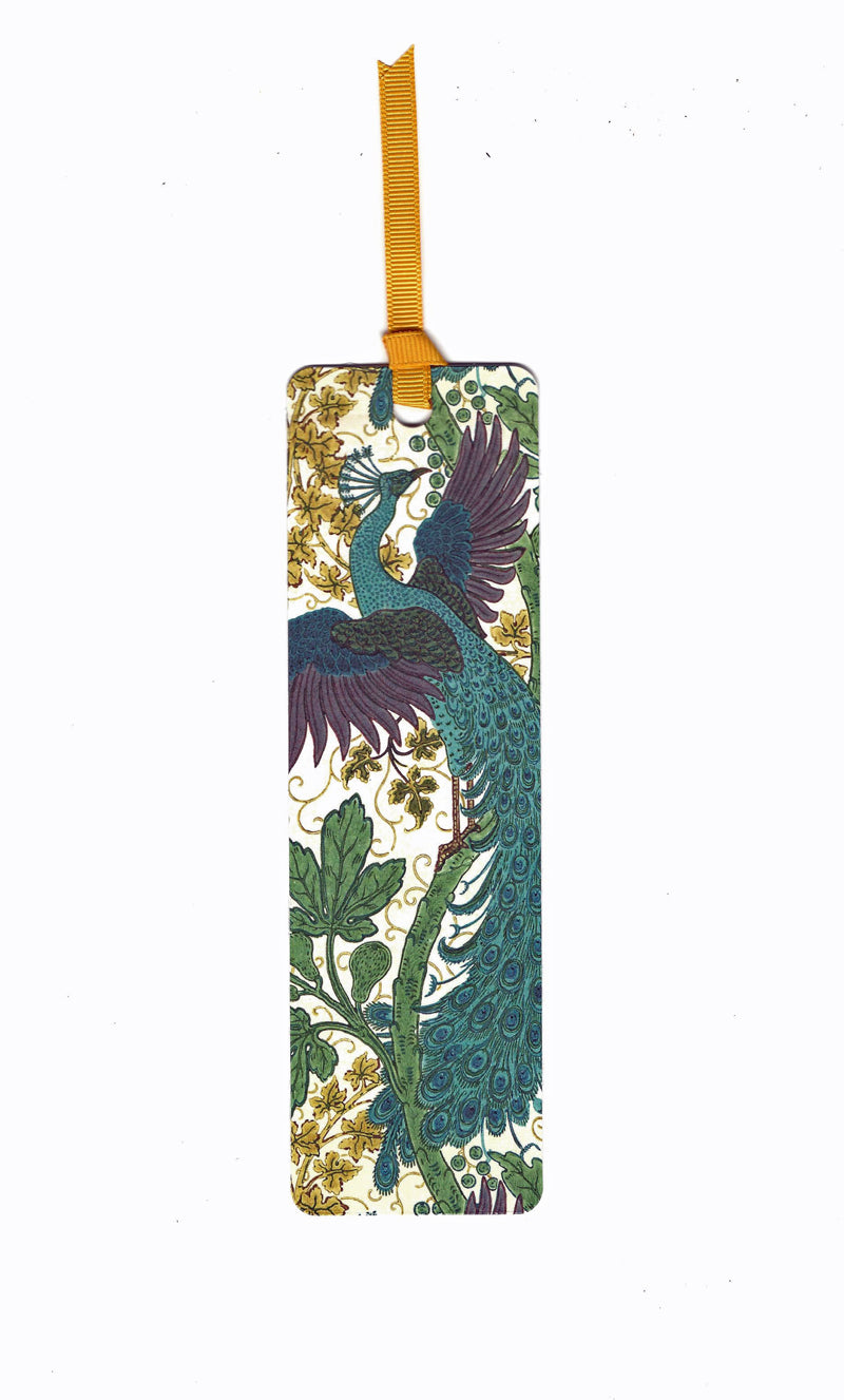 Fig and Peacock Walter Crane Bookmark